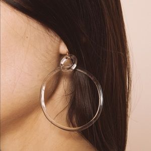 Jane D'Arensbourg Glass Double Circle Earrings